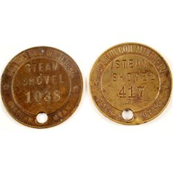Boston Con Mining Brass Tags  (88361)