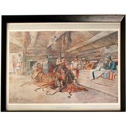 Print by Charles Marion Russell (Repro)  (86809)