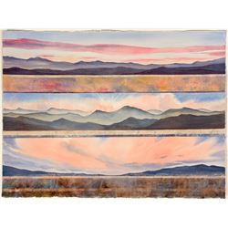 """Sunrise/Sunset"" (Nevada Vistas Watercolor)  (21627)"