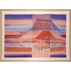 """Three Mesas"" Water Color by Ruth Hilts  (22071)"