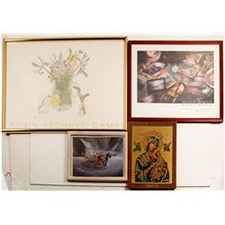 Framed pictures (4)  (86848)