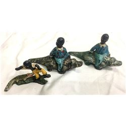 African Americans and Allligators Cast Iron (3)  (87413)