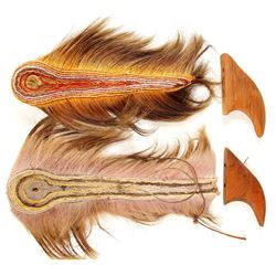 American Indian , Porcupine Hair Roaches (2 Items)   (78846)