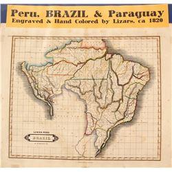 Peru, Brazil & Paraguay Maps  (59638)