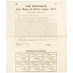 The Snowdrift Silver Mining and Reduction Co. mortage Document  (44043)
