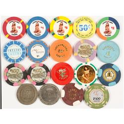 19 Casino Chips including 5 Naughty  (87118)