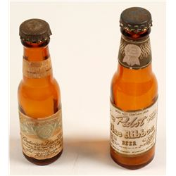 Pabst and Budweiser Miniature Bottles  (61847)