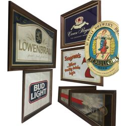 Saloon Wall Advertising Mirrors (7)  (86448)