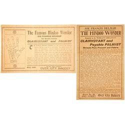 Advertising Card for Sir Francis Delmar, Clairvoyant & Palmist  (60440)
