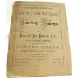 1881 Price List of National Wire Mattresses  (54148)