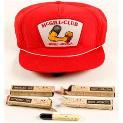 McGill Club Baseball Cap and 4 NIB Promo Lighters  (64528)