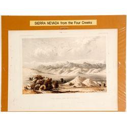 Sierra Nevada Mts. Color Print  (65004)