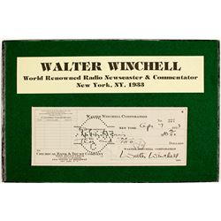 Walter Winchell Corporation Signed Check  (63426)
