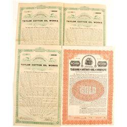 Taylor Cotton Oil  Works Bonds (4)  (69017)