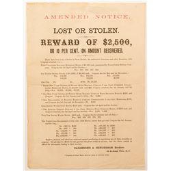 Unusual Notice of Stolen Bonds  (54618)