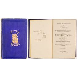 Sutro Tunnel 1872 Book  (53759)