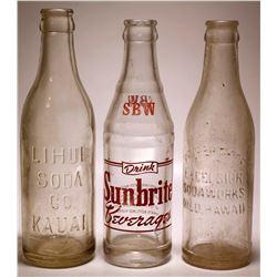 Hawaiian Pop Bottles / 3 pieces.   (78817)