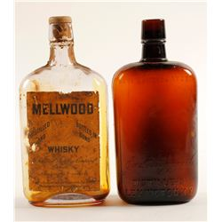 Whiskey Pint Bottles / 2 pieces.  (78833)