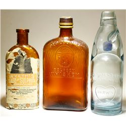 Codd's patent ,  Old Colonel Whiskey, & Wyeth's ( 3 items ).  (77464)