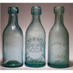H. Grone & Co, Tolenas Soda Springs, Unembossed Soda  ( 3 items )   (77432)
