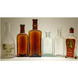 Hair Preparation Bottles / 6 Pieces.  (78818)
