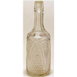 Pressed Glass Decanter/Backbar Bottle  (46741)