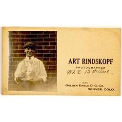 Rare Denver Photographer Business Card w/ Original Photo  (54590)