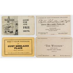 Four Different Montana Business Cards  (38820)
