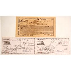Montana Territory Bill of Lading and 2 Checks  (63377)