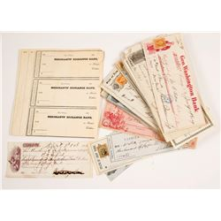 New York 19th Century Check Collection  (62144)