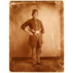 Civil War Photo of Volunteer Infantry Soldier  (79118)