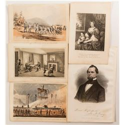 Civil War era ephemera with an Autographed piece  (55018)