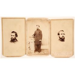 Civil War Soldier CDV's (3)  (65025)