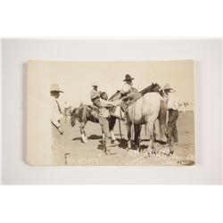 Black Rodeo Cowboy Postcard  (80948)