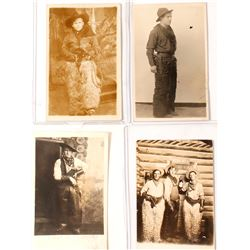 Studio Cowboy Photo Postcards (4)  (57210)