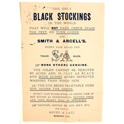 California Black Stocking Handbill  (65062)
