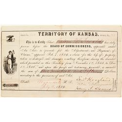 Kansas Territory Payment of Claims  (63940)
