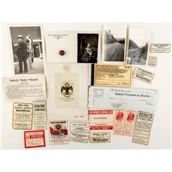 Butte Ephemera: Lot of 24 from labels to booklets to photographs to paper tokens  (44177)