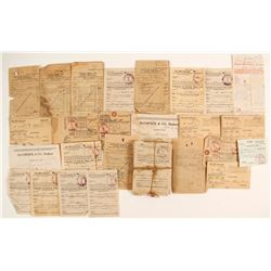 Leach Bros. Co. Receipts and Money Order Forms   (86375)
