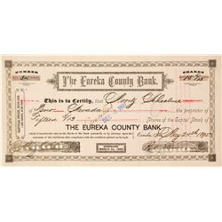 Eureka County Bank Stock Certificate, 1895  (63067)