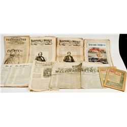 US Newspapers & Magazines (Most 1850s-1860s)  (43514)