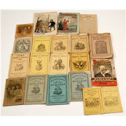 Nineteenth-Century Almanacs (21 count)  (59781)