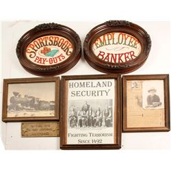 Framed Photos, Brass Plaque, Mining Pic, & More  (86851)