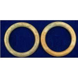 Two Pre-Revolution Jade Bangles  (45623)
