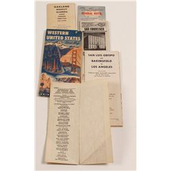 Vintage Folding Northern Calif. Maps (6)  (56533)