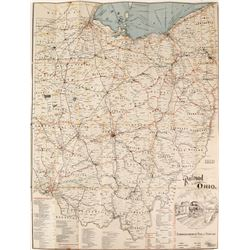 Bound Ohio Railway Map  (80750)