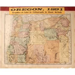 Oregon Map by Rand-McNally  (59619)