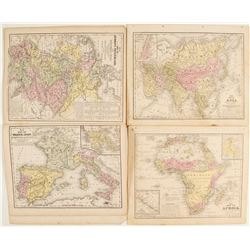 10 Atlas Colored Maps by Mitchell  (69053)