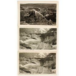 Alaska Hydraulic Mining Postcards (3)  (64276)