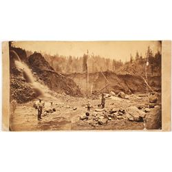 Red Bluff, CA Hydraulic Mining Cabinet Card  (65030)